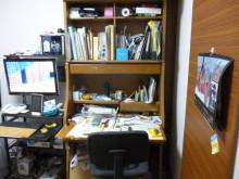 ↑私の机です。